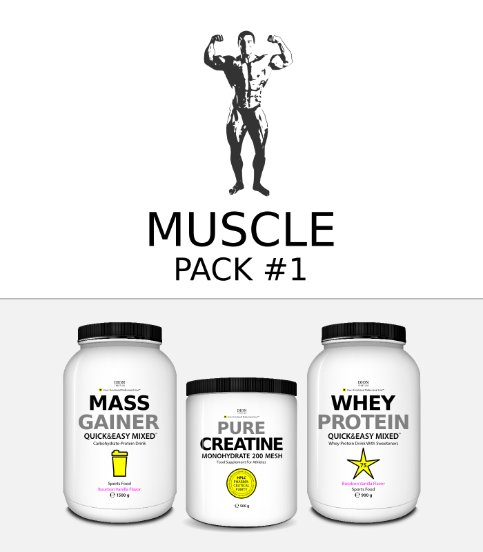 -25% MUSCLE PACK-1 Gainer + Creatine + Whey
