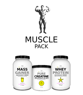 -25% MUSCLE PACK Gainer + Creatine + Whey